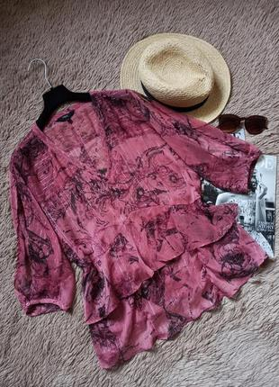 Шикарная воздушная блузка с оборками рюшами/блуза/кофточка/топ