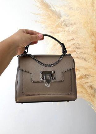 Вместительная маленькая сумочка италия натуральная кожа