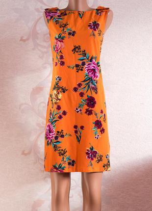 Очень красивое яркое цветочное платье