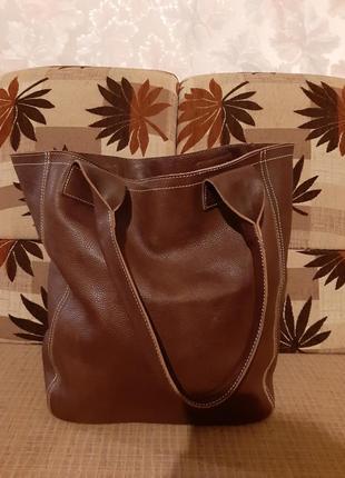 Vip. шикарная сумка шоппер, 100 % кожа класса люкс