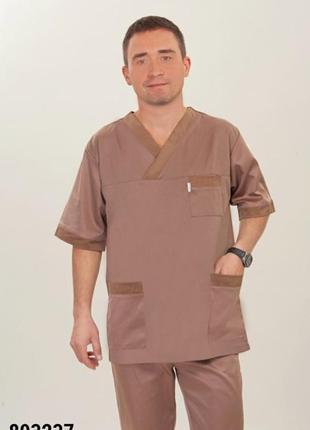 Костюм медицинский, хирургический, коттон, р. 44-60; мужская медицинская одежда, 893237