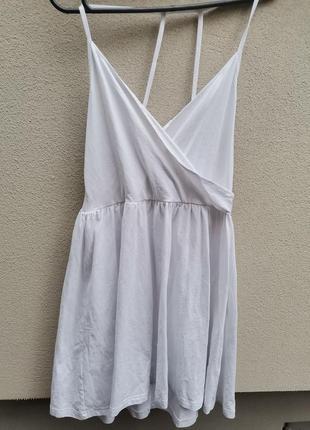 Белое пляжное платье asos m