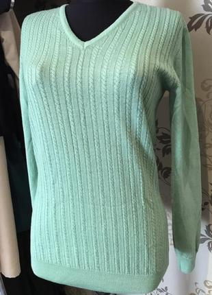 Ииалия свитер, джемпер в косы, шерсть, мягкий, экстра файн меринос