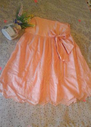 Платье-сарафан бюстье mango