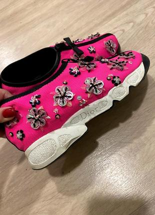 Слипоны стильные кроссовки с бисером