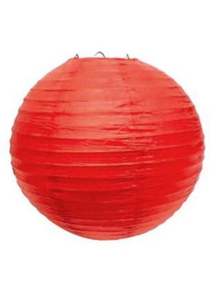 Фонарик с рисовой бумаги красный ліхтарик  з рисової бумаги червоний діаметр 25 см