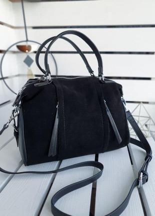 Женская кожаная / замшевая сумка
