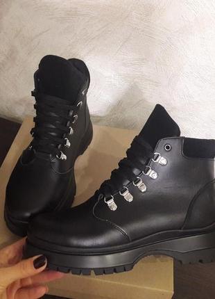 Кожа ботинки демисезон/ зима