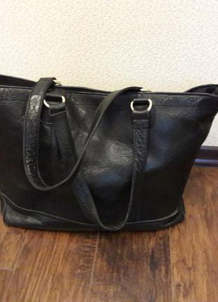 Коданая сумка шопер большая натуральная кожа зара