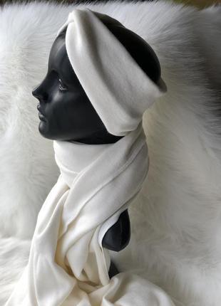 Королевская ангора набор чалма повязка+шарф