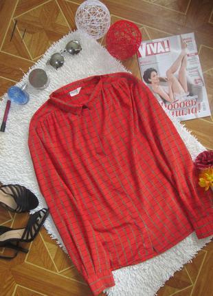 Червона блуза з принтом