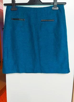 Шикарная шерстяная юбка m&s collection