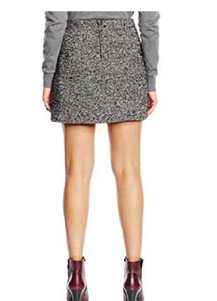 Теплая юбка трапеция с высокой посадкой new look