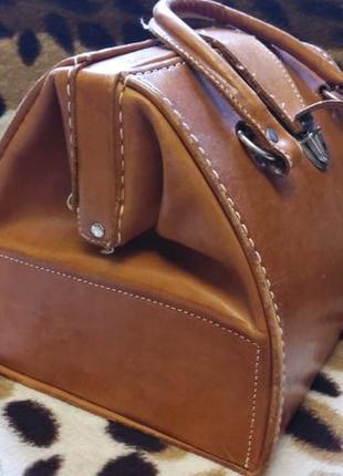 Кожаный кейс/чемодан винтаж