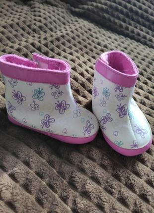 Пинетки-сапоги на липучке,на холодную осень-теплую зиму для малышки