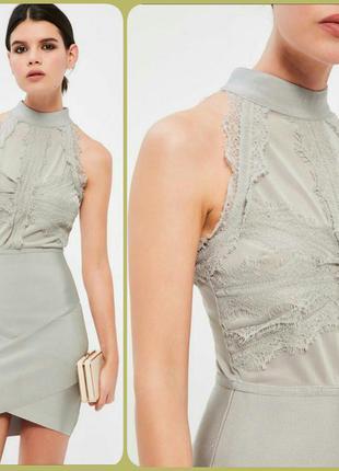 Прекрасное обтягивающее платье с кружевом -полномерная м супер цена