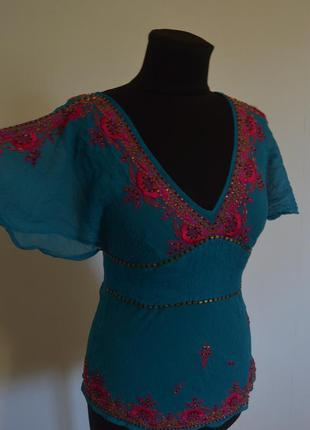 Блуза с вышивкой в стиле бохо