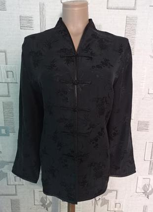 Шелковый китайский жакет блуза laukuan silk
