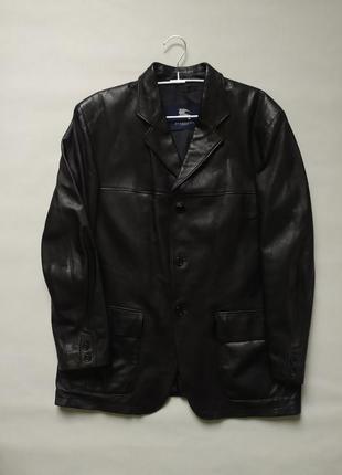 Оригинальная кожаная куртка barberry l-xl