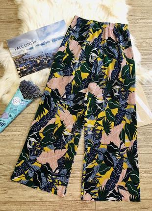 Плиссированные кюлоты primark брюки плиссе
