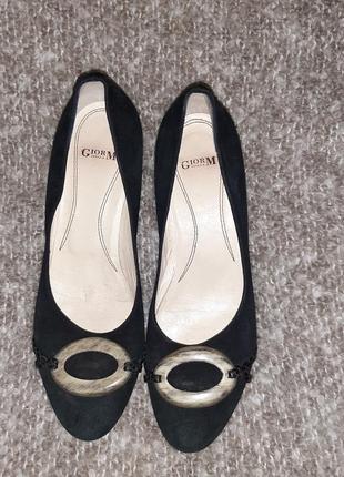 Gior m  туфли натуральная замша ,размер 39,5 италия