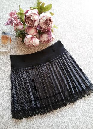 Плиссированная юбка в складочку плиссе