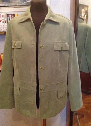 Вельветовый, приталенный пиджак - френч бренда  cavita, р. 54-56