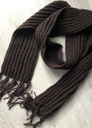 Мужской зимний коричневый шарф