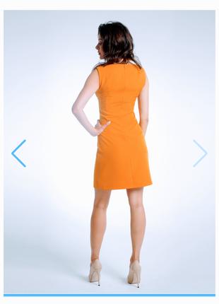 Платье-футляр классический без рукава (горчичный).платье мини из плотного трикотажа,италия