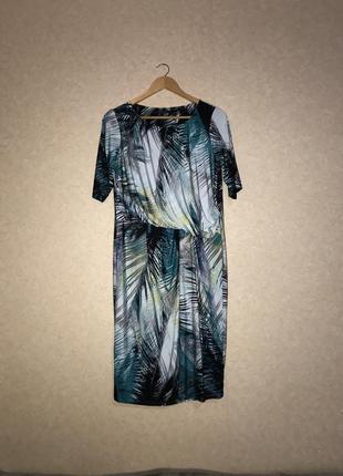 Красивое платье сарафан туника marks&spencer разм 44 пальмы супер расцветка шикарное