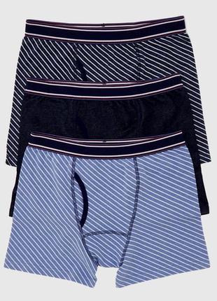 Мужские боксерки  trunks, 3 штуки в упаковке dunnes, англия. размеры m