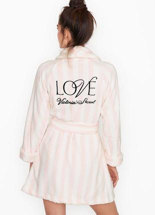 Бело-розовый халат victoria's secret