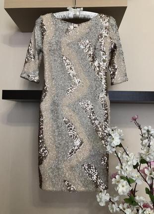 Вечернее платье с пайетками,