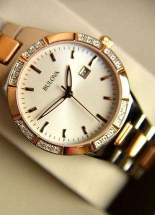 Бриллианты! женские часы с бриллиантами bulova.