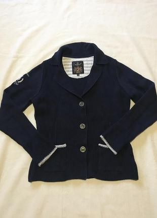 Шикарный вязаный пиджак кофта хлопок.
