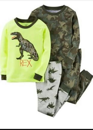 Пижама картерс 3т динозавр