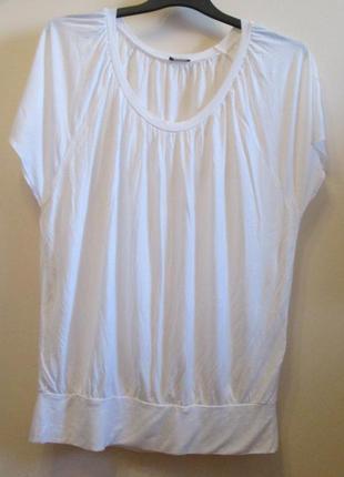 Актуальная белая блуза футболка laura scott натуральная размер 16