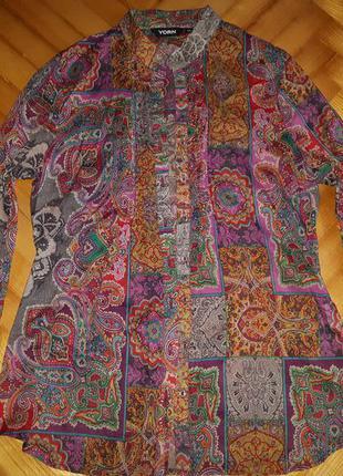 Тонкая батистовая блуза в принт от yorn! p.-38