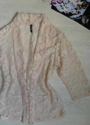 Гепюровый пиджак