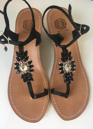 Новые кожаные итальянские босоножки lisa c bijoux