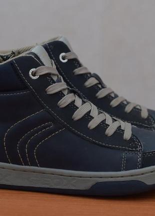 Кожаные коричневые ботинки geox, 36 размер. оригинал