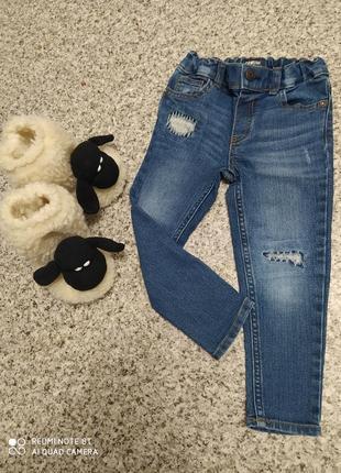 Джинсы скинни джинсовые штаны на девочку джинси джинсові штани на дівчинку oshkosh 2 3