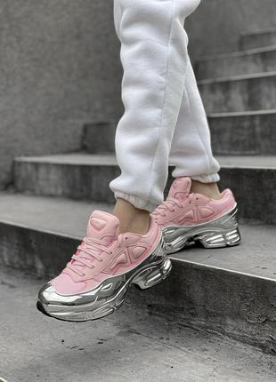 Женские кроссовки adidas raf simons ozweego silver pink 36-37