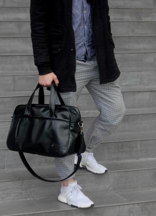 Спортивна дорожня шкіряна сумка з екошкіри для подорожей спорту