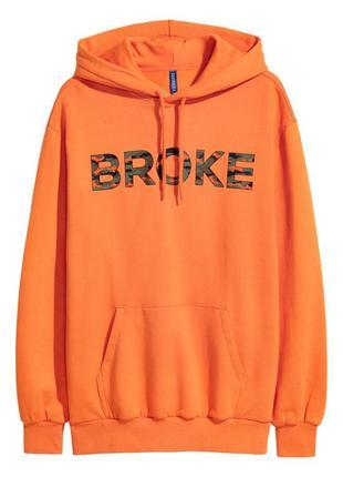 Худи h&m 0551045017 оранжевого цвета