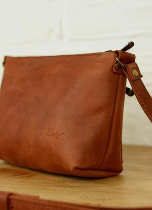 Кожа. ручная работа. кожаная коричневая сумка, сумочка. кожаный женский клатч