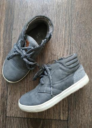 Ботинки 12р, демисезонные  хайтопы на шнурках
