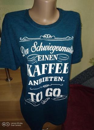 Классная мужская брендовая футболка-l-xl- much more- идеал