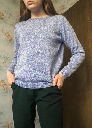 Зимний тёплый хлопковый свитер