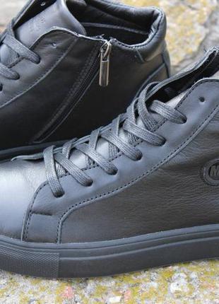Стильные мужские демисезонные ботинки,черного цвета